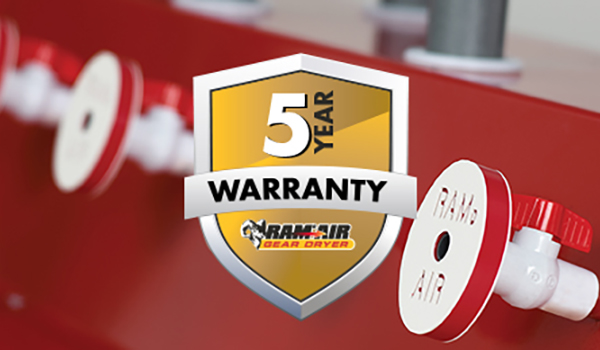 Ram Air announces new five-year warranty on all gear dryers